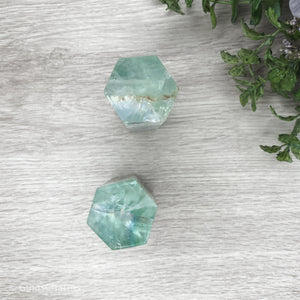 Fluorite Crystal Display Logs - Gina's Charms
