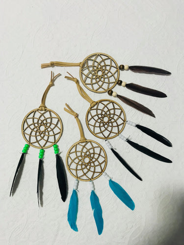 Feather Dreamcatchers with Wooden Mandala