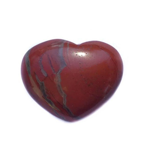 Gemstone Puff Heart - Red Jasper S2 - Gina's Charms