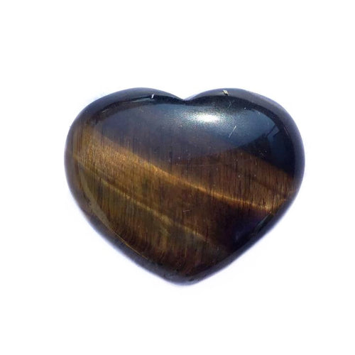 Gemstone Puff Heart - Tiger Eye S2 - Gina's Charms