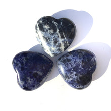 Load image into Gallery viewer, Gemstone Puff Heart - Sodalite S2