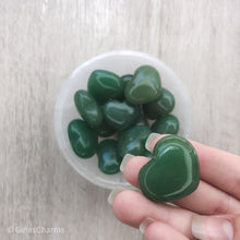 Load image into Gallery viewer, Green Aventurine Gemstone Heart - Gina's Charms
