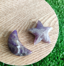 Load image into Gallery viewer, Star & Moon Set - Chevron Amethyst