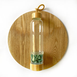 Green Aventurine Large Bamboo Crystal Water Bottle