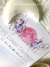Load image into Gallery viewer, Lunar Calendar 2020 by Emily Shine - A3 - Gina's Charms