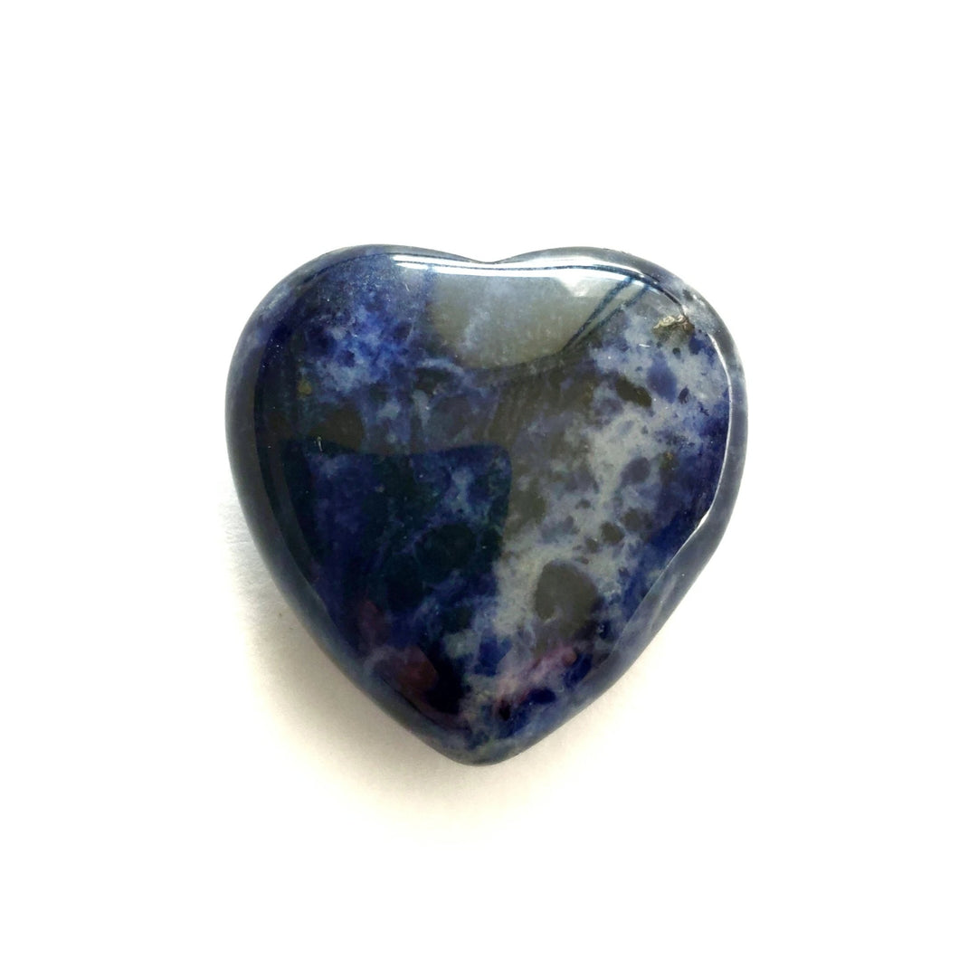 Gemstone Puff Heart - Sodalite S2