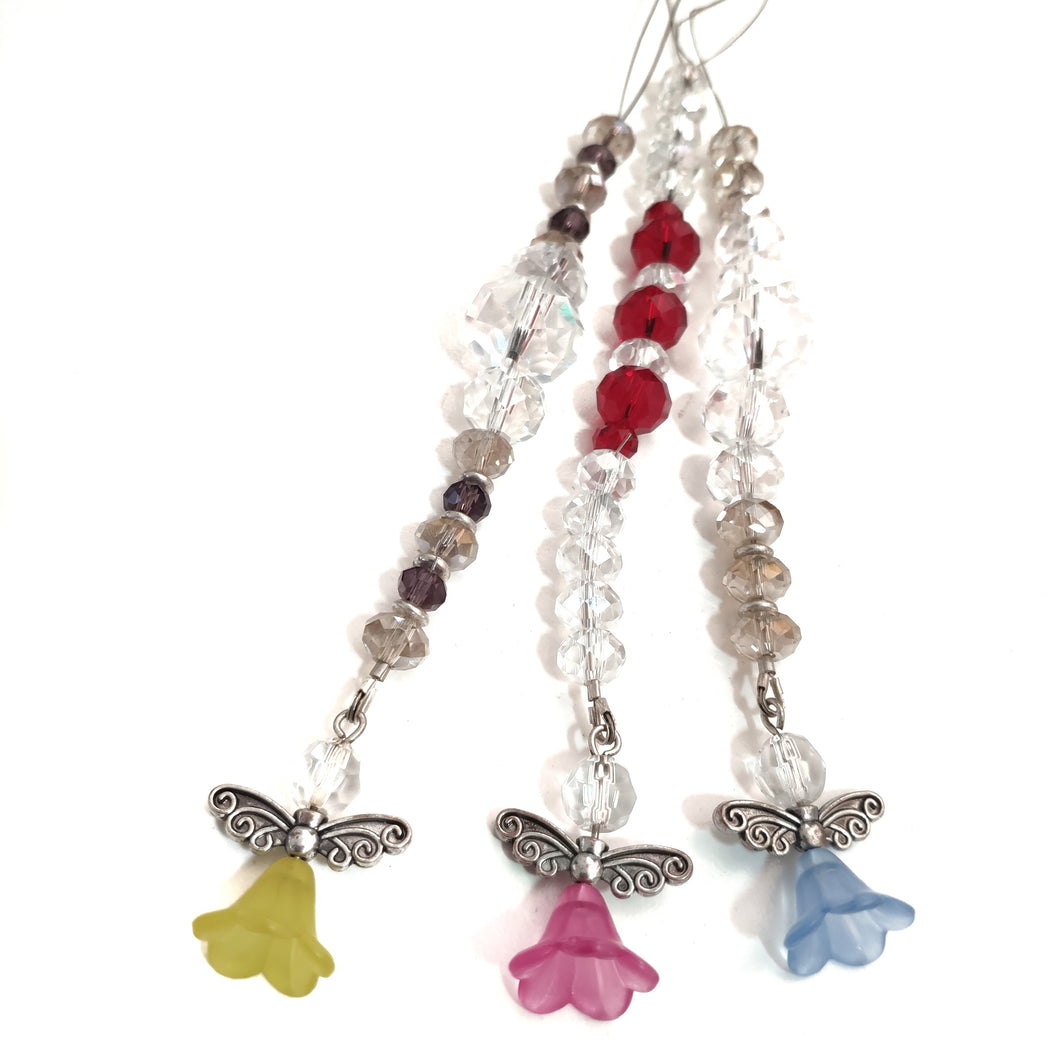 Crystal Suncatcher with Angel Charm - Gina's Charms
