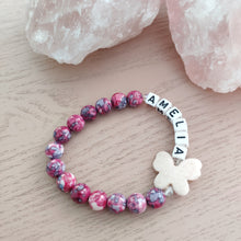 Load image into Gallery viewer, Kid's Personalised Butterfly Bracelet - Gina's Charms