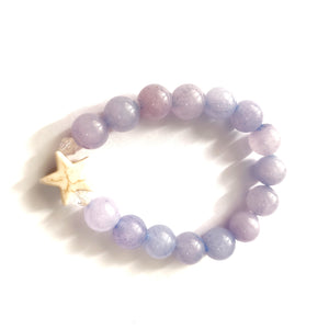 Kid's Howlite Star Purple Bracelet