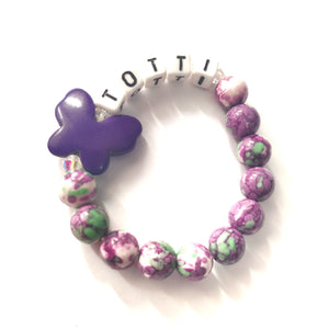 Kid's Personalised Butterfly Bracelet - Gina's Charms
