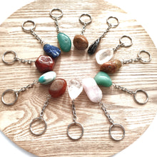 Load image into Gallery viewer, Gemstone Keyring - Tumbled Crystals - Gina's Charms