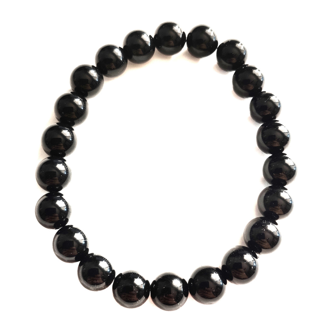 Black Onyx Beaded PROTECTION Bracelet