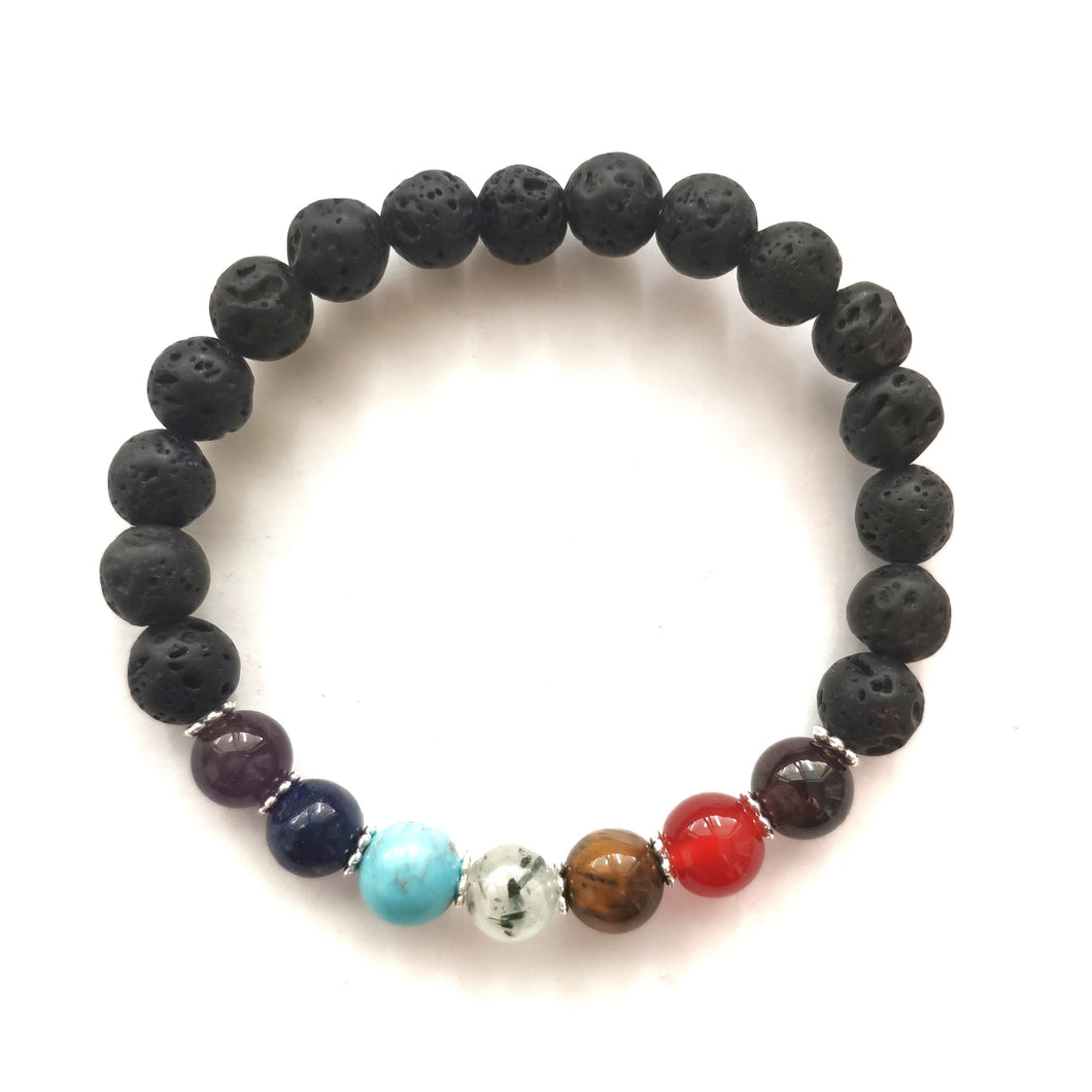 CHAKRA Lava Bracelets for Essential Oils - Gina's Charms