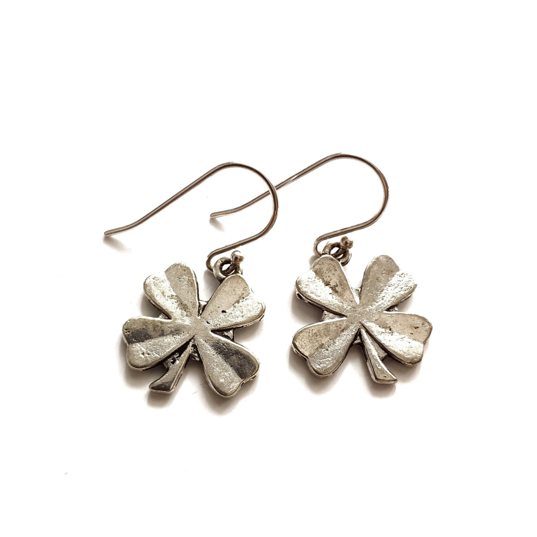 Four Leaf Clover LUCK Charm Earrings - Gina's Charms