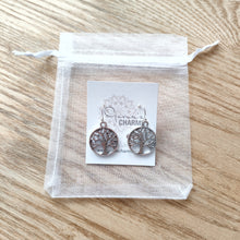 Load image into Gallery viewer, Filigree Tree of Life Charm Earrings
