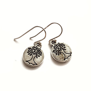 Tree of Life Small Charm Earrings - Gina's Charms