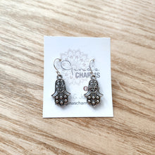 Load image into Gallery viewer, Love & Protection Charm Earrings - Hamsa Hand Medium