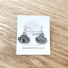 Load image into Gallery viewer, Charm Earrings - Lotus Flower - Gina's Charms