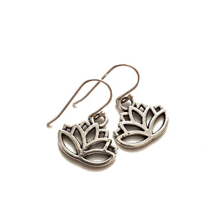 Charm Earrings - Lotus Flower - Gina's Charms
