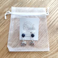 Load image into Gallery viewer, Elephant Dangle Earrings - LAPIS LAZULI