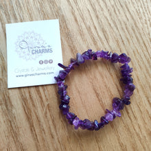 Load image into Gallery viewer, Amethyst Gemstone Chips Bracelet