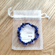 Load image into Gallery viewer, Lapis Lazuli Gemstone Chips Bracelet - Gina's Charms