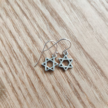 Load image into Gallery viewer, Star of David Charm Earrings