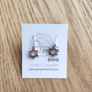 Star of David Charm Earrings