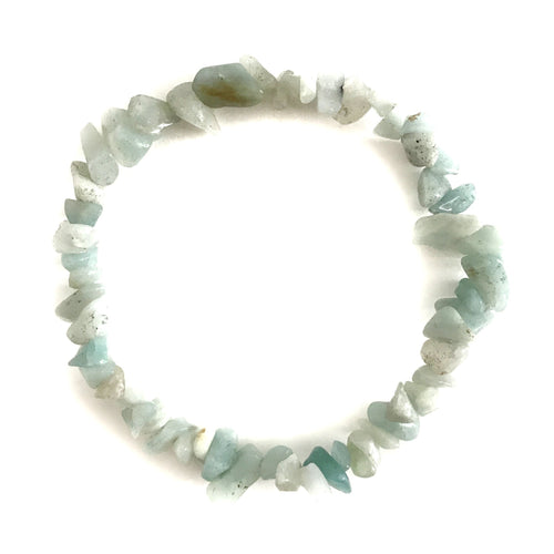 Amazonite Gemstone Chips Bracelet - Gina's Charms