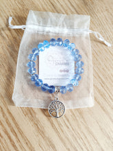 Load image into Gallery viewer, Blue Crystal Tree of Life Bracelet - Gina's Charms