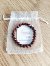 Load image into Gallery viewer, Red Tiger Eye Beaded GROUNDING PROTECTION Bracelet - Gina's Charms