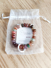 Load image into Gallery viewer, Agate Roundelle HOPE Bracelet - Gina's Charms