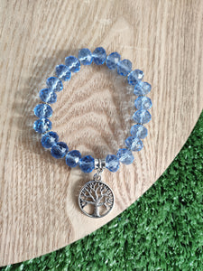 Blue Crystal Tree of Life Bracelet