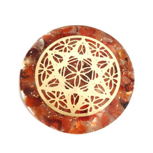 Load image into Gallery viewer, Orgonite - Carnelian Star Mandala