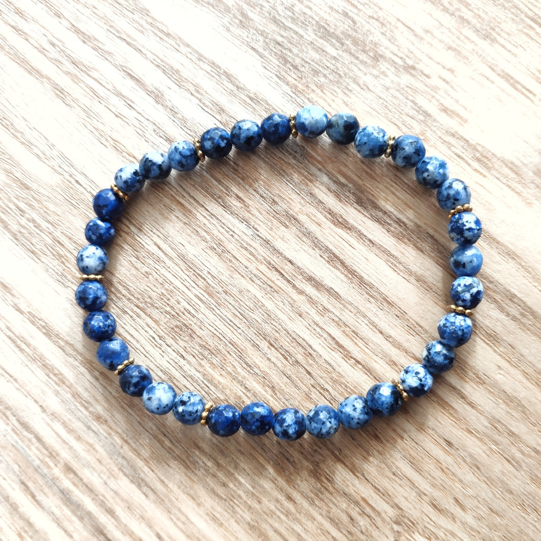 Blue Malay Jade Bracelet - Gina's Charms