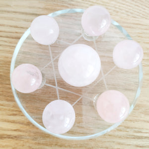 Rose Quartz Star Display - Large