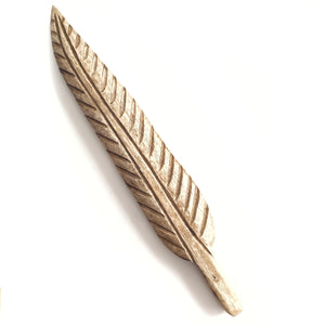 Large Wooden Feather for Smudging