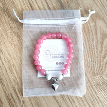 Load image into Gallery viewer, Howlite & Pink Malay Jade SELF-LOVE Bracelet
