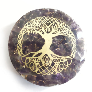Orgonite - Amethyst Tree of Life - Gina's Charms