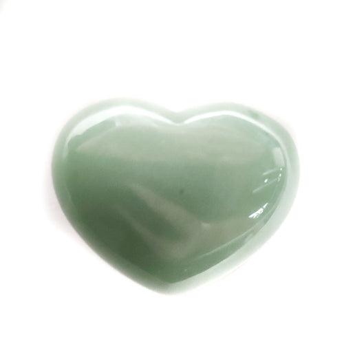 Gemstone Puff Heart - Green Aventurine S2 - Gina's Charms