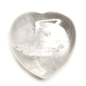 Clear Quartz Gemstone Heart - Gina's Charms