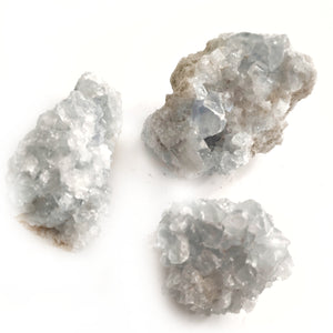 Celestite Clusters S3 - Gina's Charms