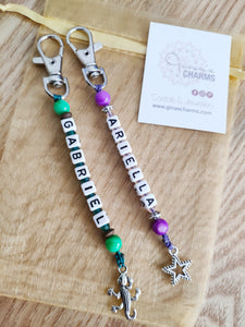 Kid's Personalised Crystal Bagcharm - Gina's Charms