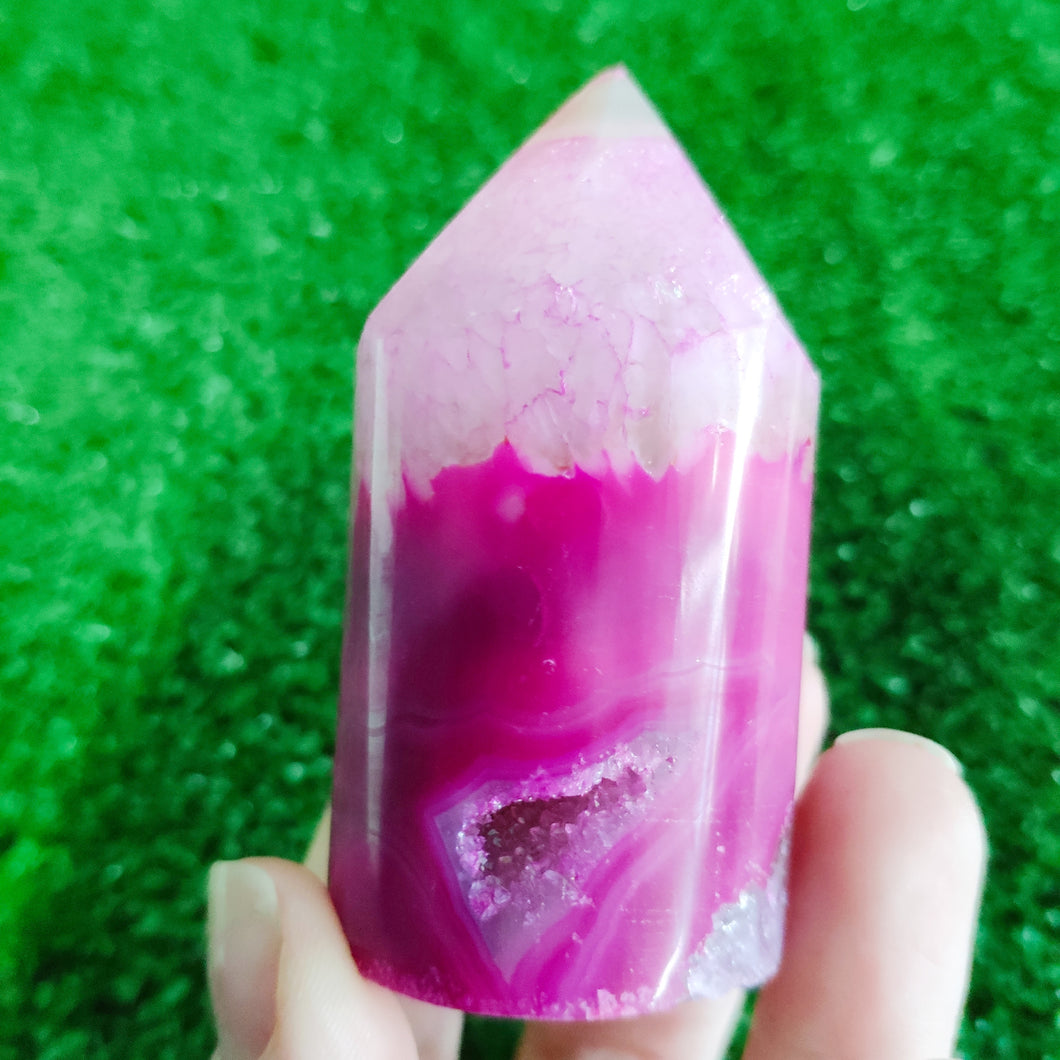 Agate Core Cylinder #1239 - Pink