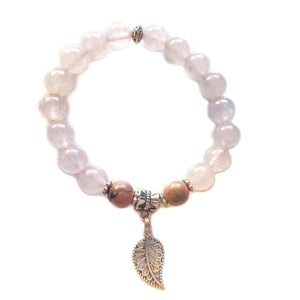Rose Quartz & Rhodonite HAPPINESS Bracelet - Gina's Charms