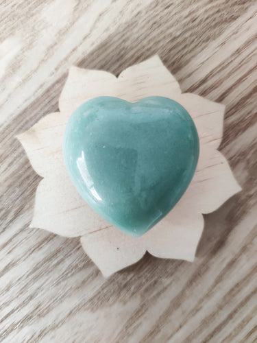Gemstone Puff Heart - Green Aventurine S4