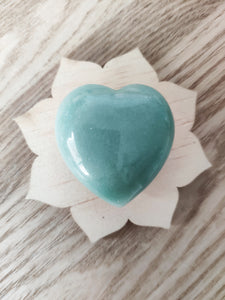 Gemstone Puff Heart - Green Aventurine S4 - Gina's Charms