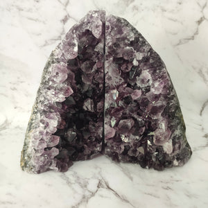 Amethyst A-Grade Bookends - #1707 - Gina's Charms