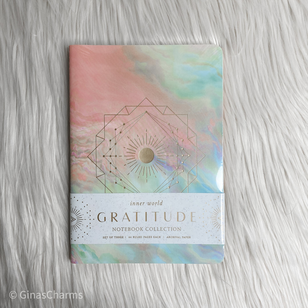 Journal - Gratitude Sewn Notebook Collection Set of 3 - Gina's Charms