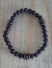 Load image into Gallery viewer, Men's Unisex Bracelet - Lava & Hematite #5